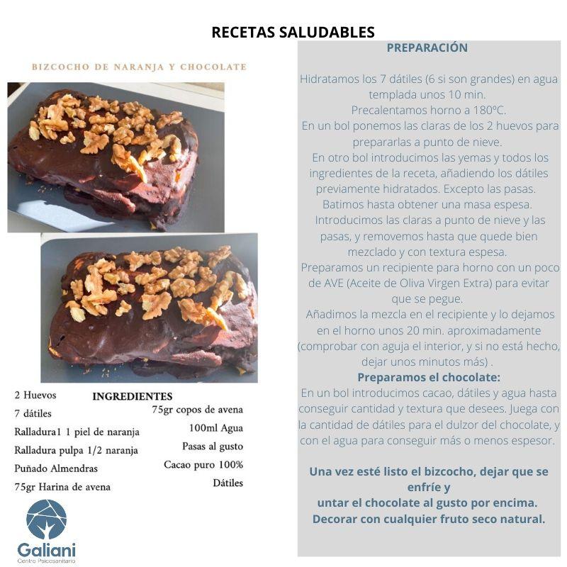 Receta saludable: Bizcocho de naranja y chocolate
