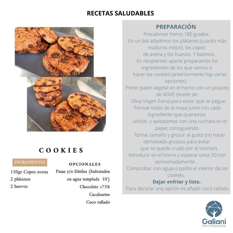 Recetas saludables: Cookies