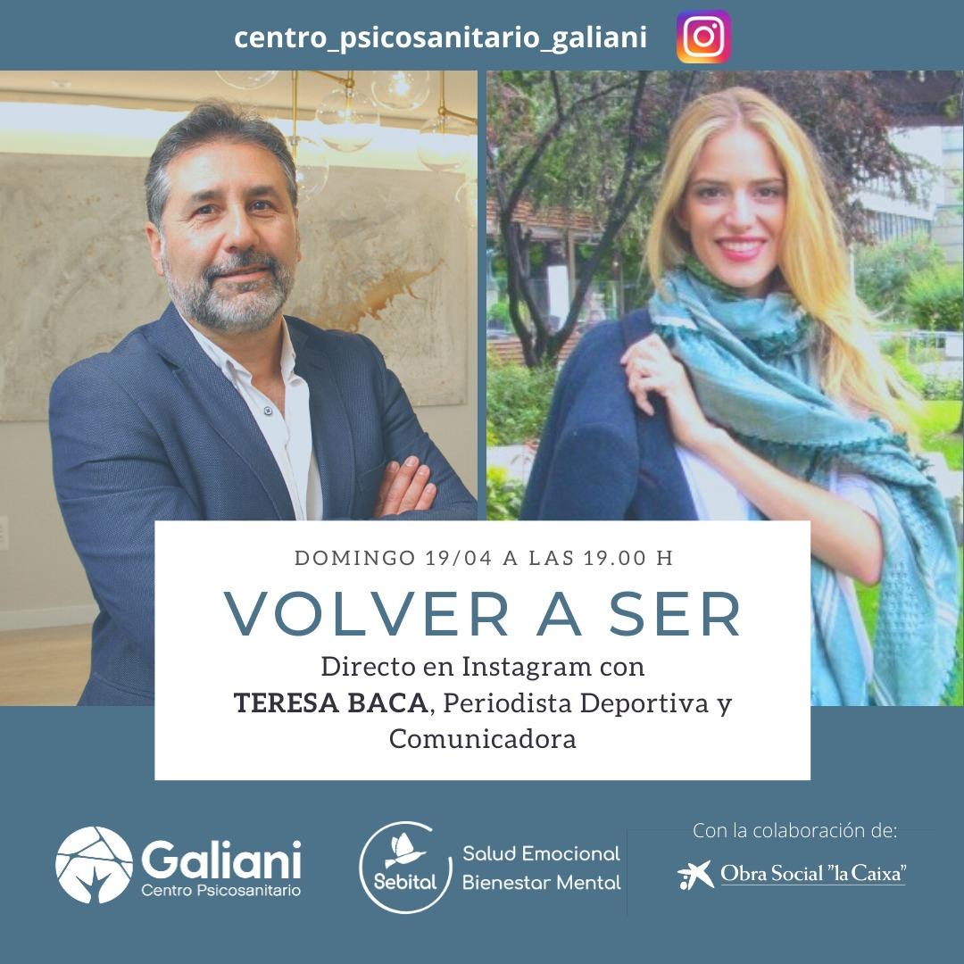 Directo de Instagram con Teresa Baca, periodista deportiva y comunicadora