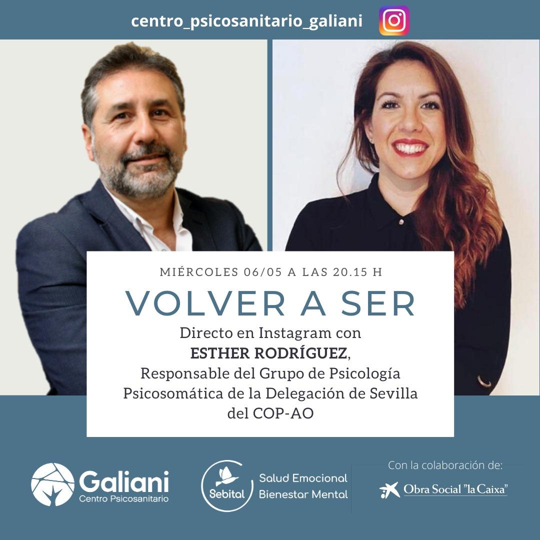 Directo con Esther Rodríguez, Responsable del grupo de Psicología Psicosomática de la Delegación de Sevilla           del COP-AO