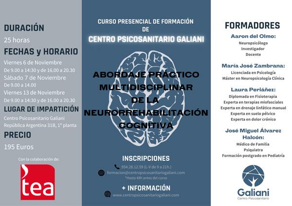 Primer curso presencial de formación de Centro Psicosanitario Galiani