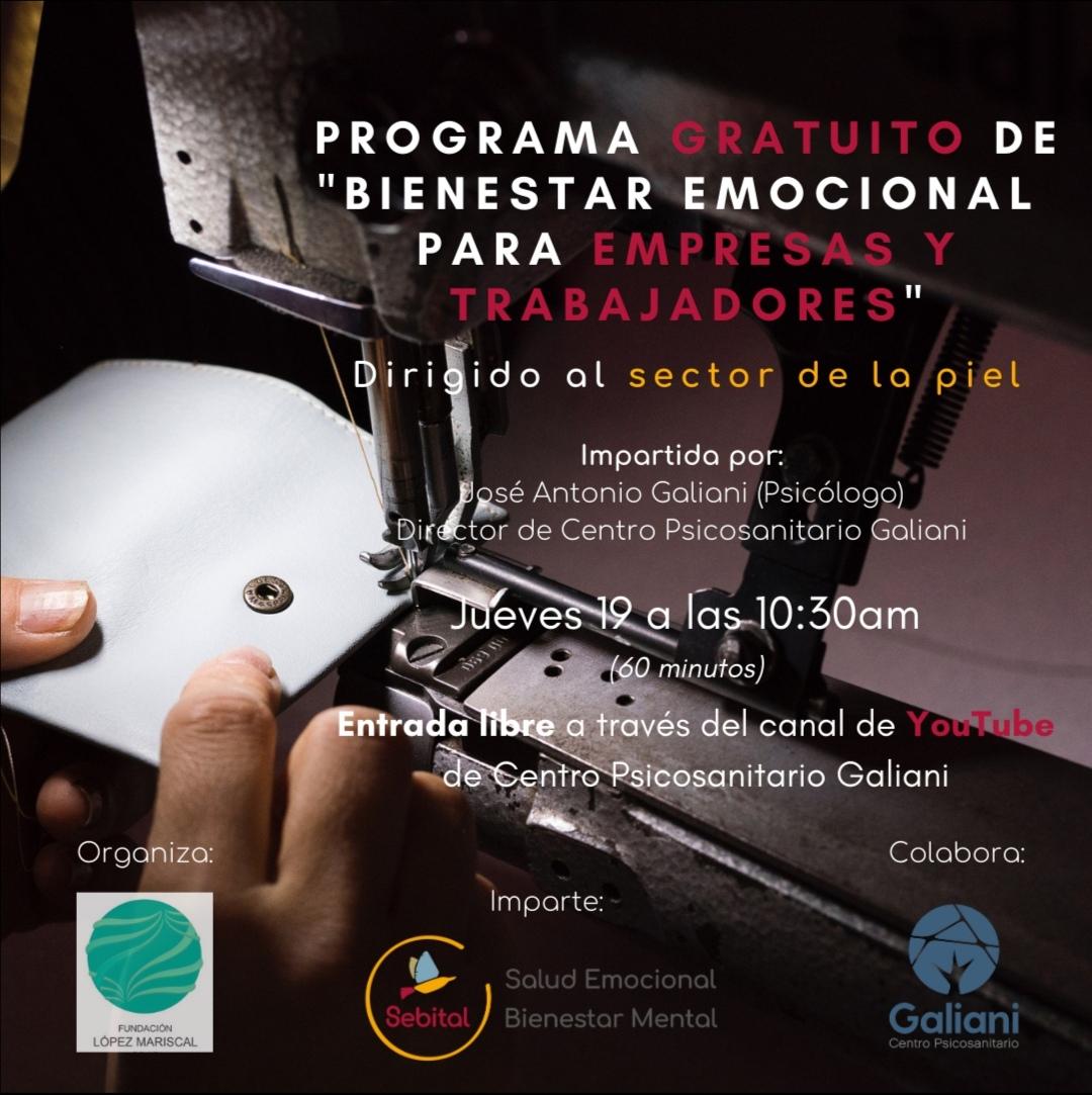 Sebital y la Fundación López Mariscal impulsan un programa de Bienestar Emocional para empresas y trabajadores del sector de la piel (Radio Comarca. Cadena Ser)