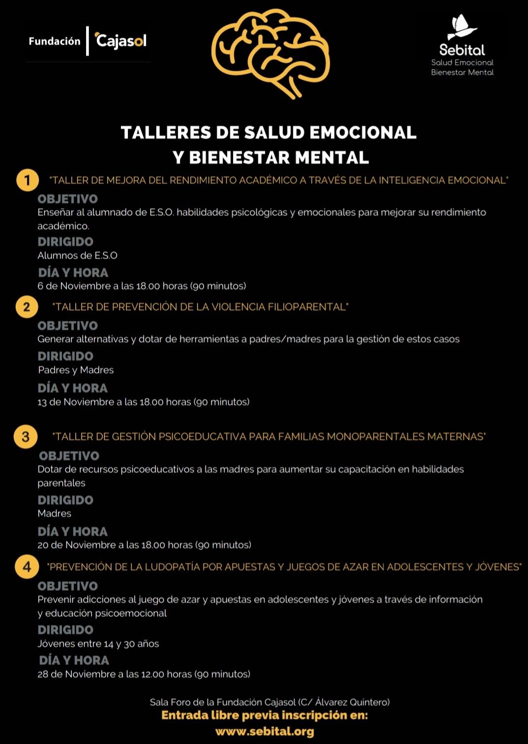 Sebital realiza Talleres de Salud Emocional y Bienestar Mental con la colaboración de la Fundación Cajasol